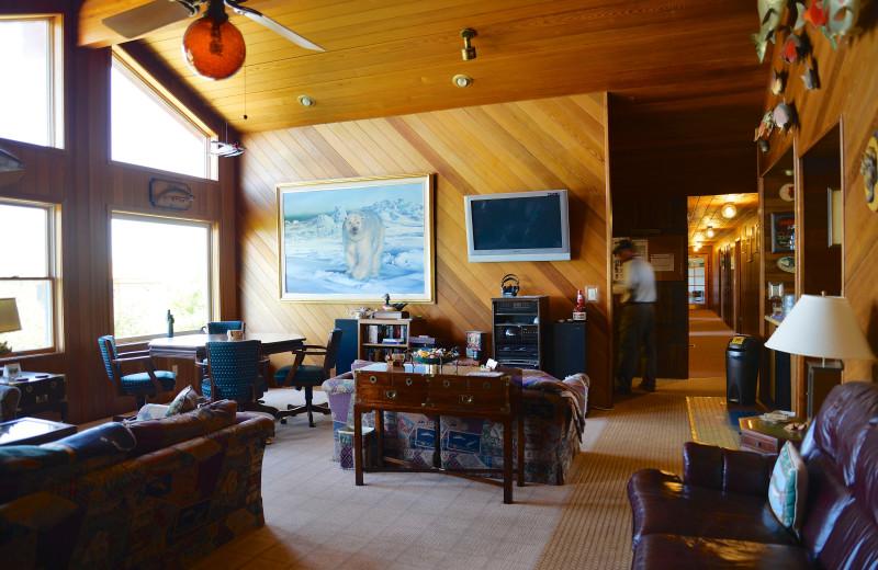 Lobby at Alaska Rainbow Lodge.
