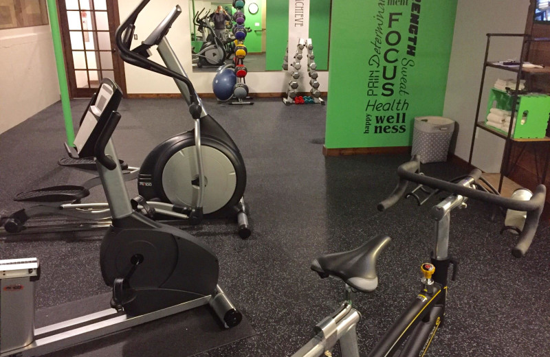 Fitness room at Open Hearth Lodge.