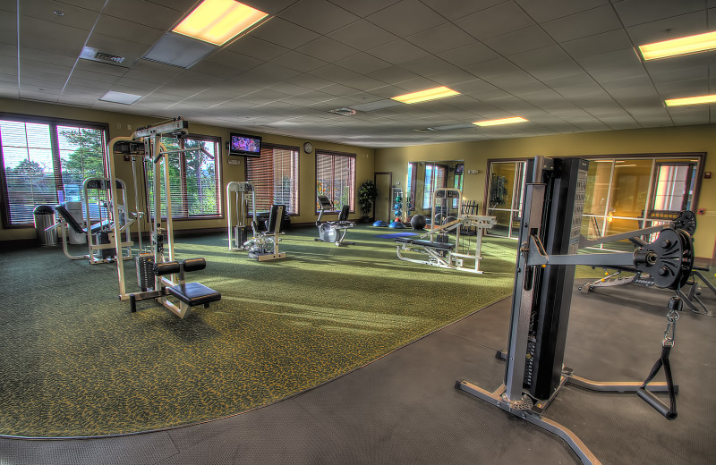 Fitness room at Riverstone Resort & Spa.