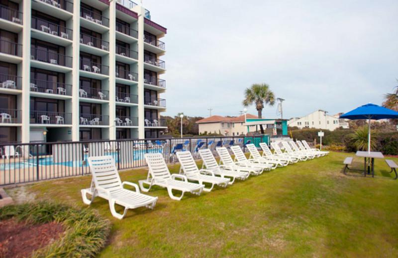 Relaxing at Grande Shores Ocean Resort.