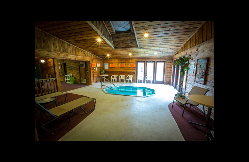 Hot tub at Northern Pine Inn.