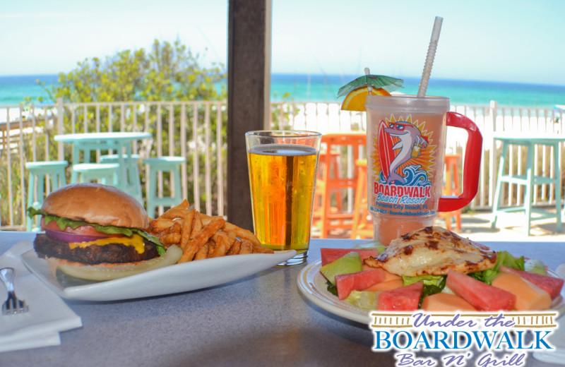 Dining at Boardwalk Beach Resort Hotel & Convention Center.