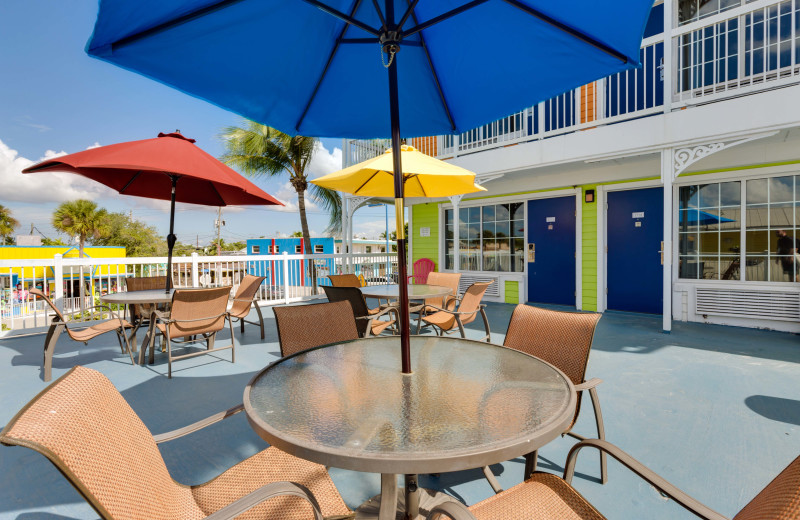 Patio at Pierview Hotel & Suites
