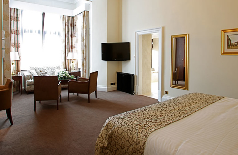 Guest room at Bagden Hall Hotel and Golf Course.