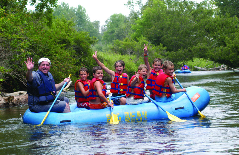 Rafting at Northwoods Lodge.