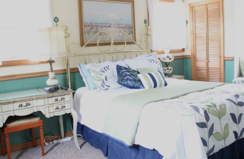 Rental bedroom at Saco Bay Rentals.