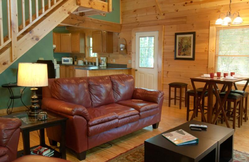 Cabin interior at Rock Creek Cabins