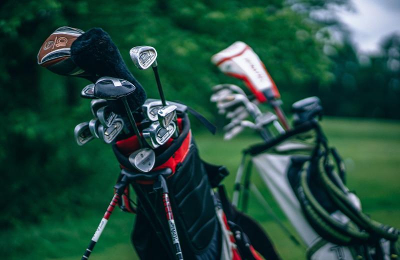 Golf course at Cascade Lodge.