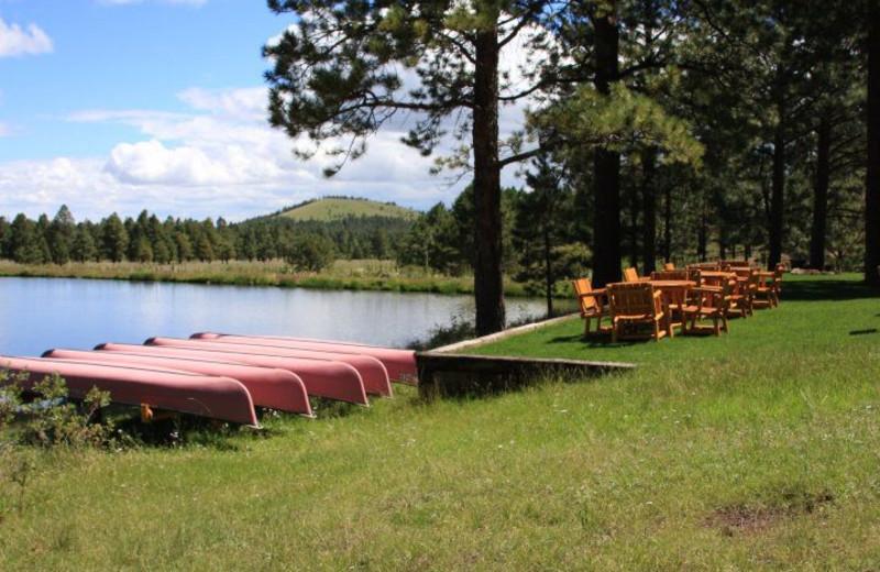 Lake at Hidden Meadow Ranch.