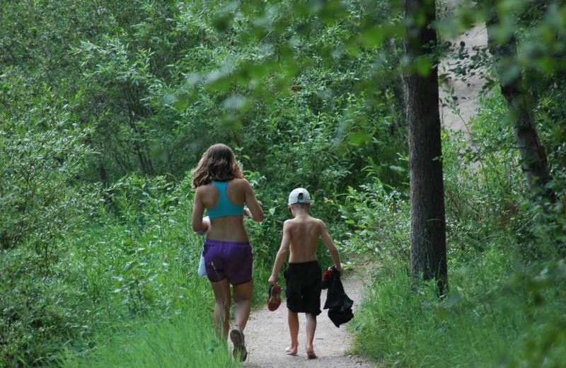 Hiking at Barefoot Resort.