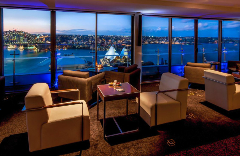 Lounge at Inter-Continental Sydney.
