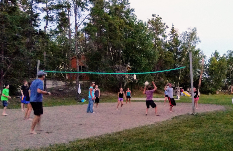 Family fun is easily had on our sand volleyball court!