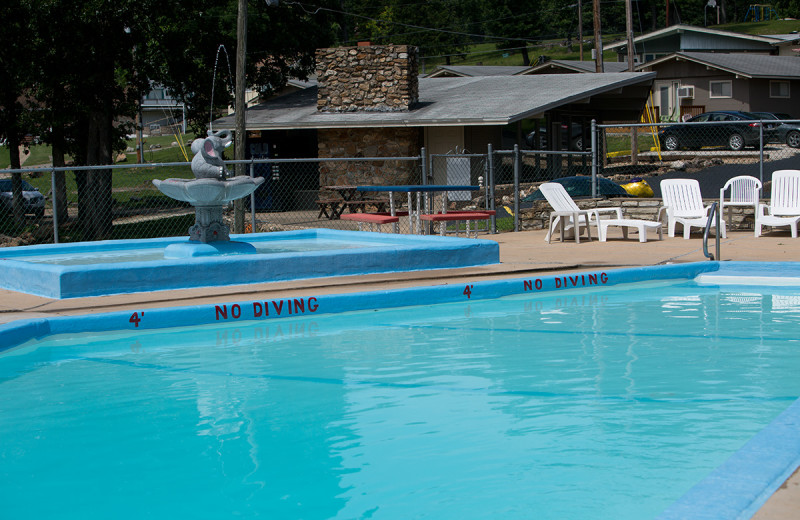 Outdoor pool at Bass Point Resort.