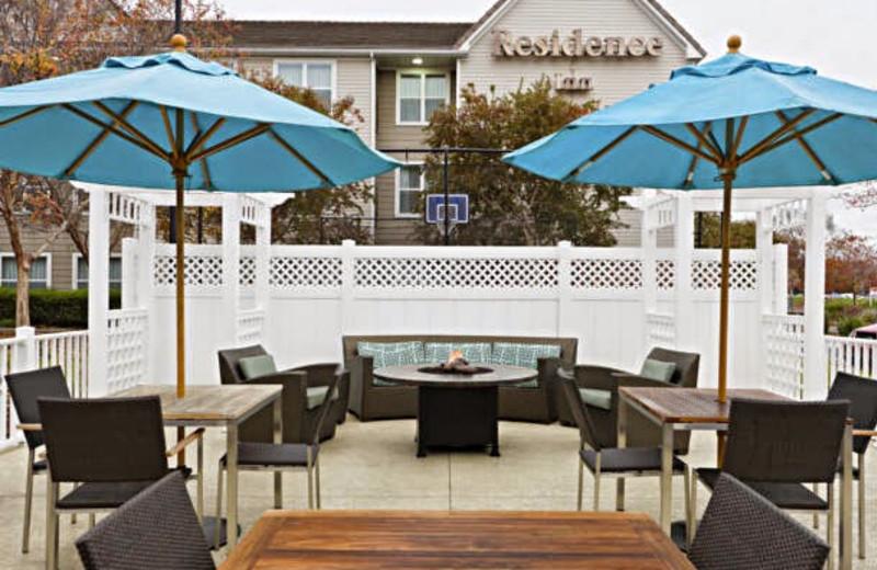 Patio at Residence Inn Sacramento Rancho Cordova.