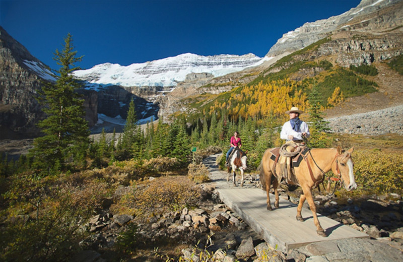Horseback riding at Mountaineer Lodge.