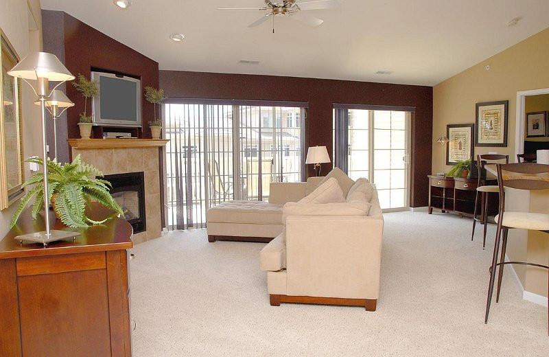 Spacious Living Area at Delton Grand Resort