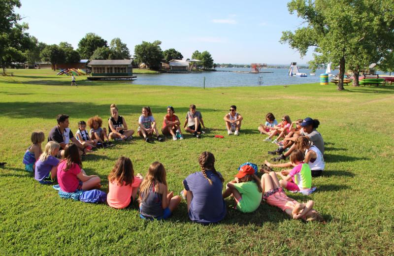 Meetings at Camp Champions on Lake LBJ.