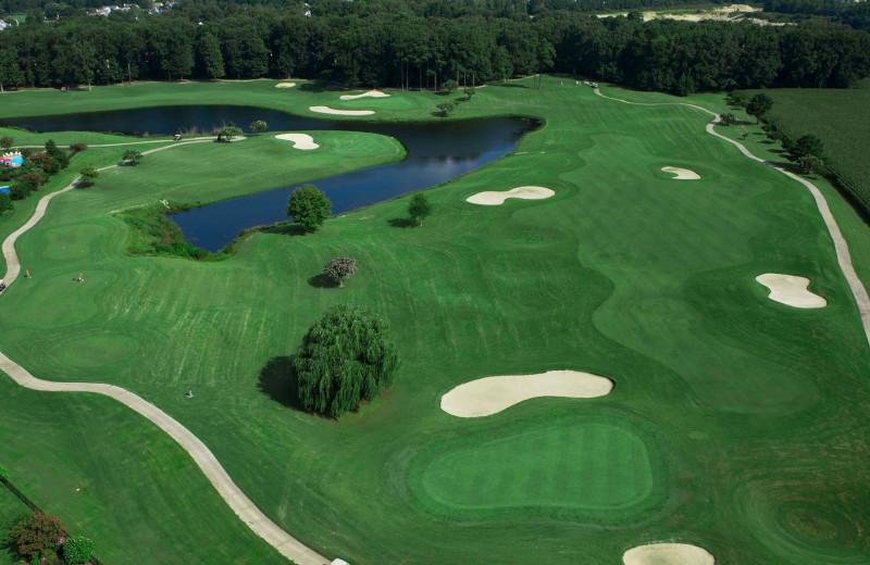 Golf course near Sandbridge Realty.