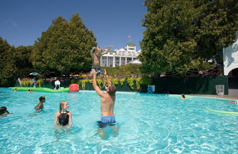 Outdoor pool at Grand Hotel.