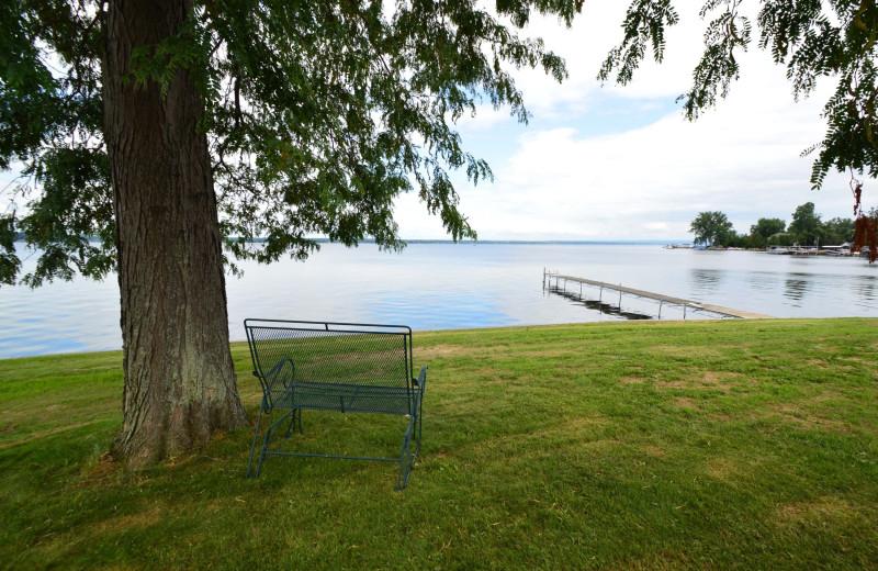 Lake view at Waters Edge B&B Resort.