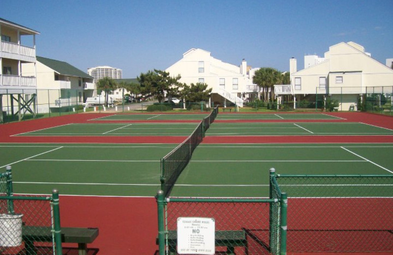 Tennis courts at Sandpiper Cove.