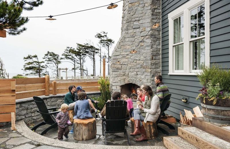 Rental patio at Seabrook Cottage Rentals.