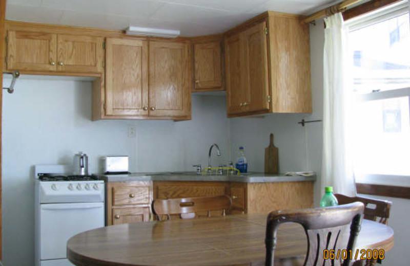 Guest kitchen at Adrian's Resort.