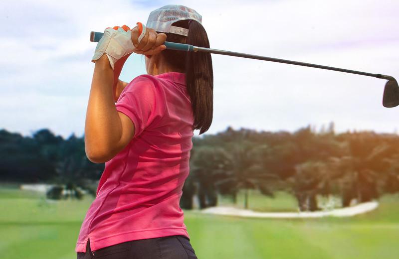 Golfing at The Resort at Port Ludlow.