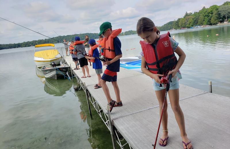 Fishing at The Osthoff Resort.