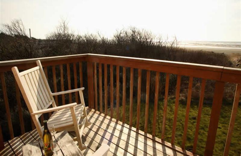 Rental deck at Sandpiper Beach Resort.