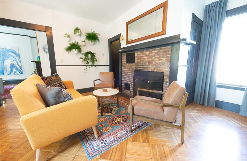 Lounge at Addison Choate.