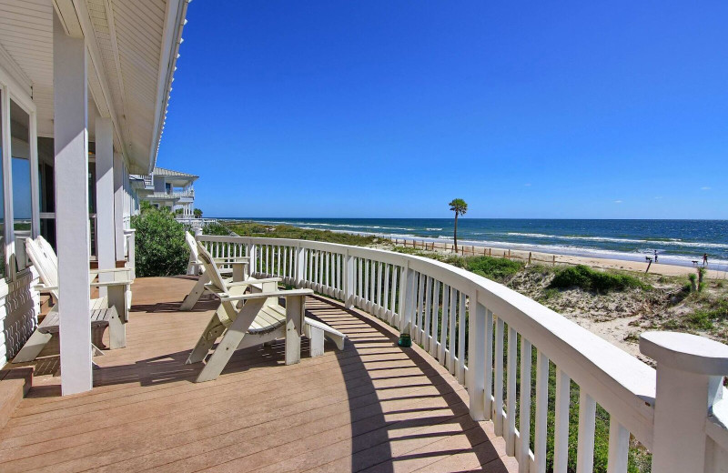 Rental deck at Resort Vacation Properties of St. George Island.