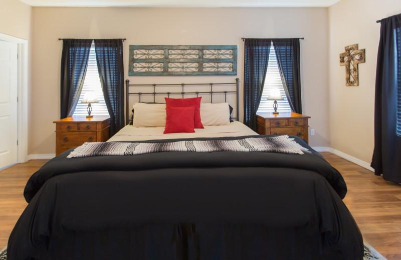 Guest bedroom at Rockwood Resort.