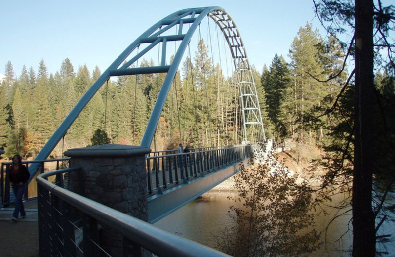 Walking Bridge at Mount Shasta Resort