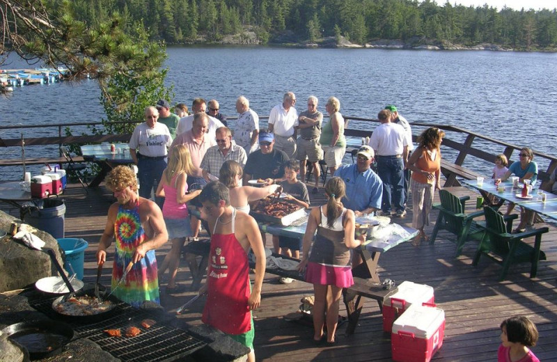 Weekly Fish Fry at Crane's Lochaven Wilderness Lodge