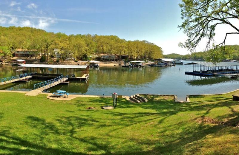 Lake view at Bass Point Resort.