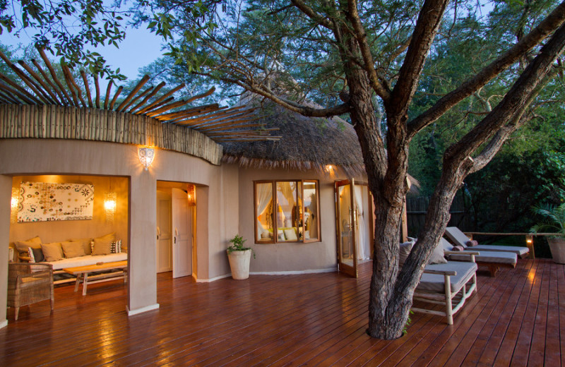 Exterior view of Tongabezi Lodge.