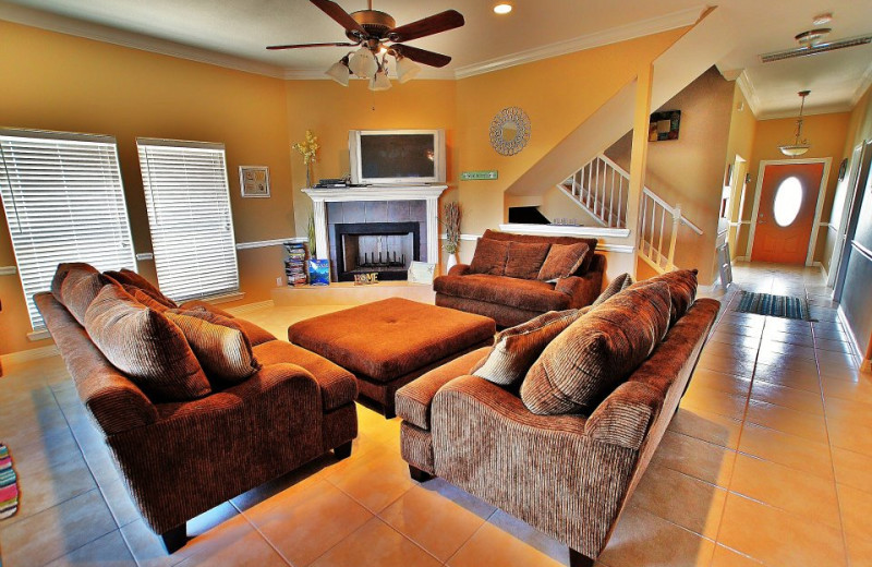 Vacation rental living room at Ryson Vacation Rentals.