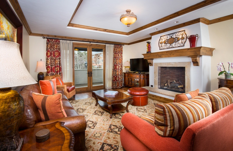 Guest living room at The Arrabelle at Vail Square, A RockResort.