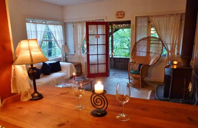 Interior view of A Calistoga Enchanted Cottage.