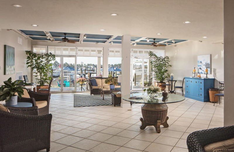 Lobby at Cove Inn on Naples Bay.