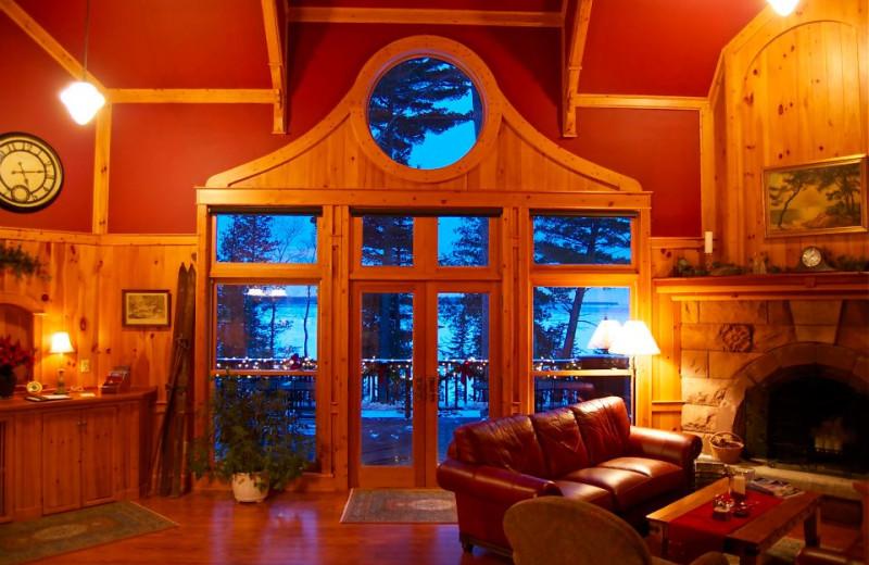 Interior view of Siskiwit Bay Lodge.