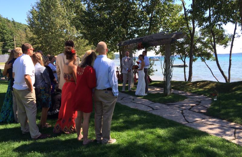 Wedding at Chimney Corners Resort.