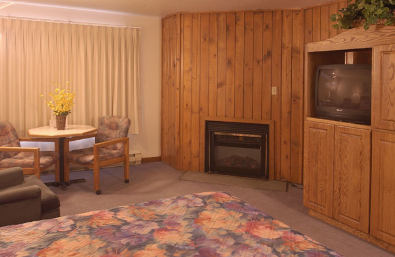 Suite interior at Adobe Resort.