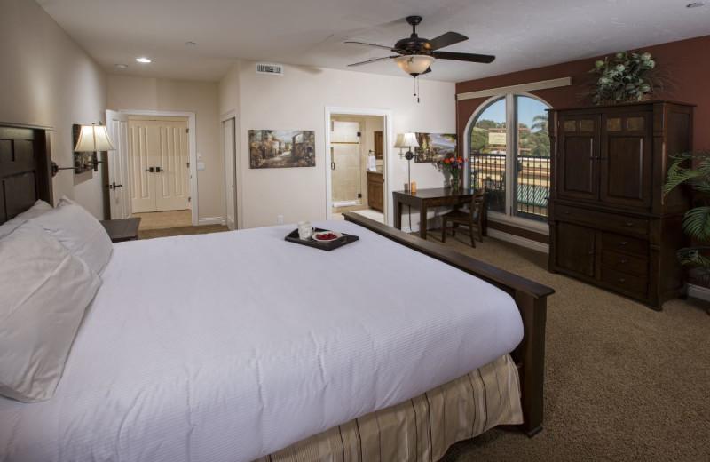 Suite bedroom at Valentina Suites.