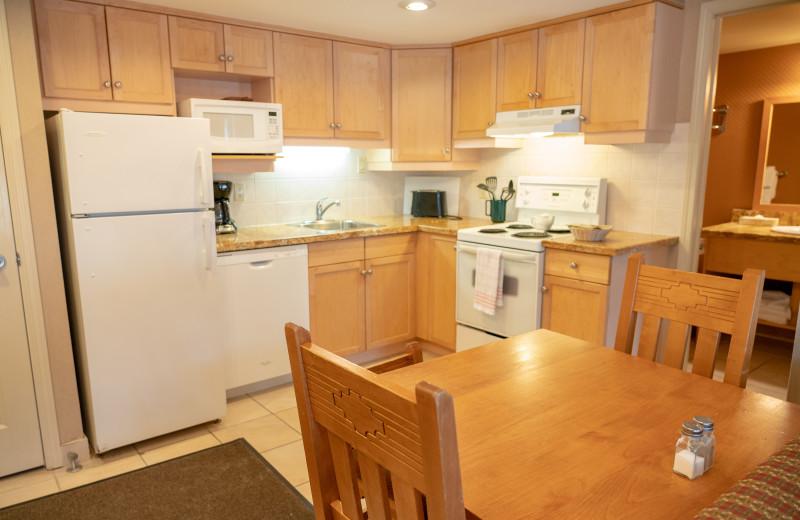 Guest kitchen at Banff Rocky Mountain Resort.
