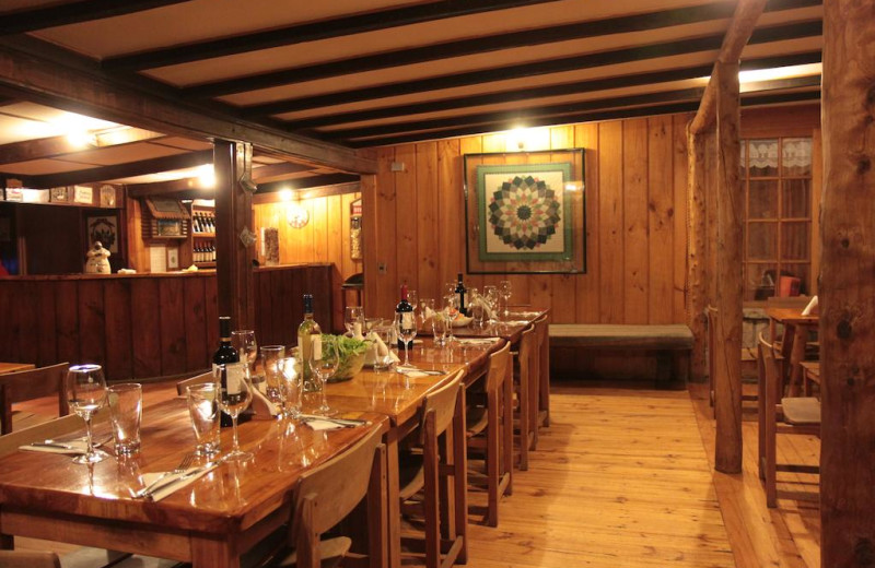 Dining at Hotel Posada de Farellones.