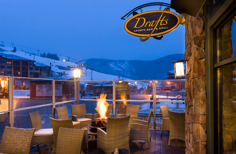 Patio dining at Westgate Park City Resort & Spa.