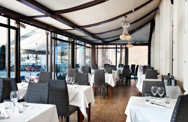 Dining at Scandic Kramer Hotel.