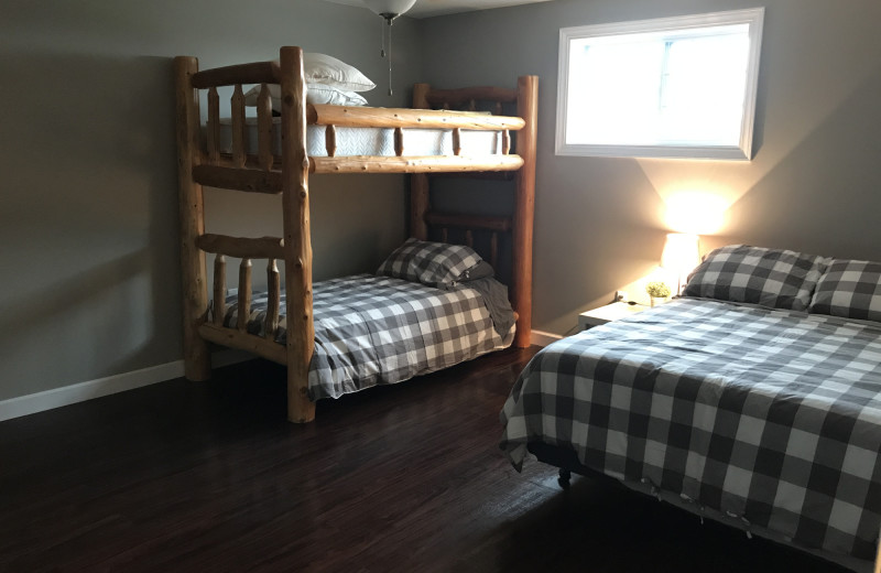 Bedroom at The Lodge at Windy Ridge.